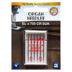 Organ Needles ELX705 CR SUK 80-90