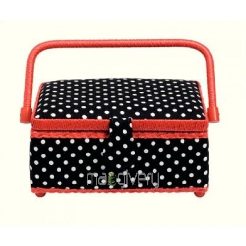 Prym Polka Dots Sewing Basket